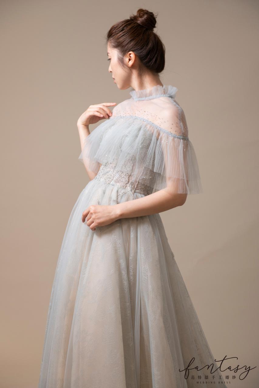 浪漫設計師款莫蘭迪色晚禮服