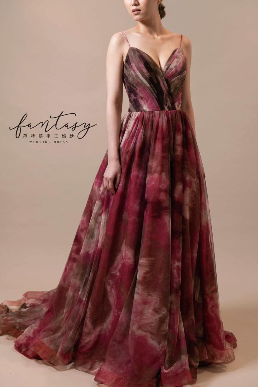 韻染設計師款紅色晚禮服